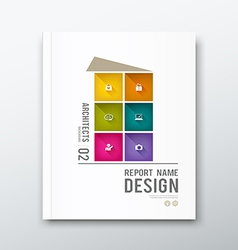 Cover annual report colorful building graphic vector image vector image