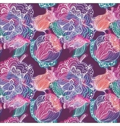 Electric Flower Pattern vector image