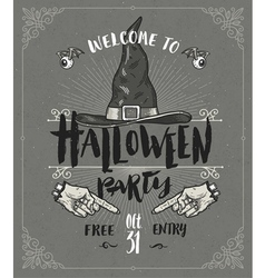 Halloween poster or greeting card vector