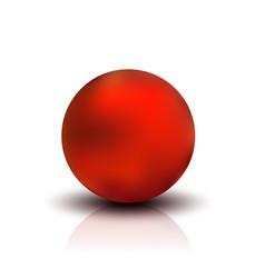 metallic sphere realistic vector image