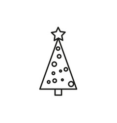 simple christmas tree icon vector image vector image