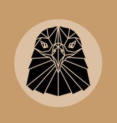 Eagle head triangular element logo vector