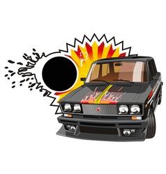 tuned car vector image