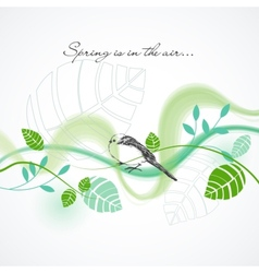 fresh spring background vector image vector image