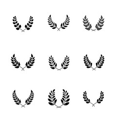 Olive branches with leaves for trophy ornate vector