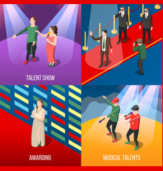 talents and awards isometric concept vector image