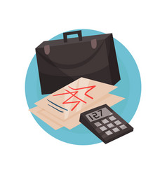 business icon management and finance symbols vector image