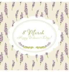 Congratulations card 8 march vector