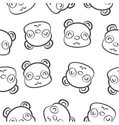cute animal hand draw pattern vector image