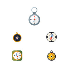 flat icon compass set of direction divider vector image