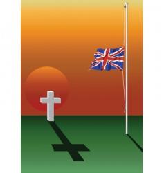 half mast flag vector image vector image