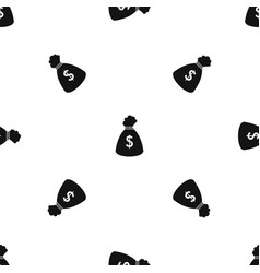 money bag pattern seamless black vector image