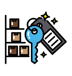 Warehouse colorful icon sharing economy concept vector