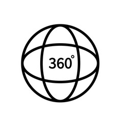 360 degree view logo tour globe and vision vector