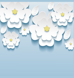 3d flowers sakura wallpaper vector image