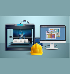 3d printing composition vector image