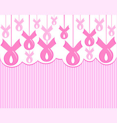 a breast cancer pink ribbon vector image