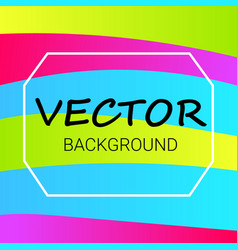 abstract colored background with waves vector image