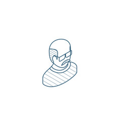 avatar father adult man isometric icon 3d line vector image