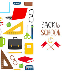 back to school background school banner vector image