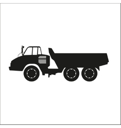 Black silhouette of a dump truck vector