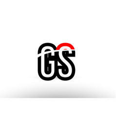 black white alphabet letter gs g s logo icon vector image