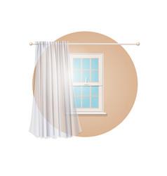 Blank transparent curtain vector