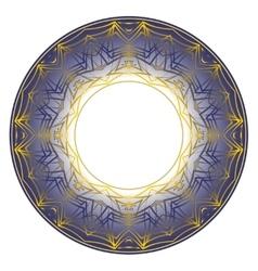 Blue plate ornament vector
