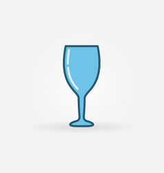 blue wine glass colorful icon vector image