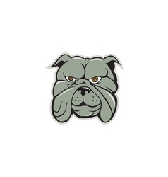 Bulldog Head Isolated Cartoon vector