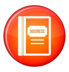 Business book icon flat style vector