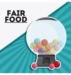 Candys sphere fair food snack carnival icon vector