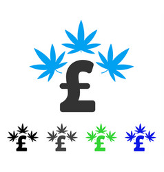 cannabis pound business flat icon vector image