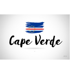 cape verde country flag concept with grunge vector image