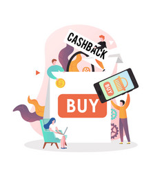 cashback concept for web banner website vector image