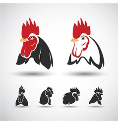Chicken head4 vector image