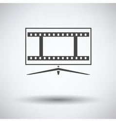 Cinema TV screen icon vector image