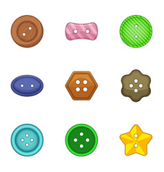 clasp icons set cartoon style vector image