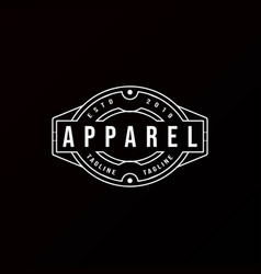 Classic vintage retro label badge logo design vector