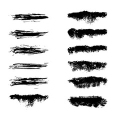 collection black dirty design element grunge vector image