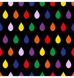 Colorful Rain Black Background vector image