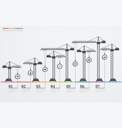 Colorful road infographic timeline with icons vector