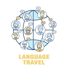 Concept for language tourism vector