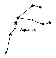 Constellation of zodiac sign aquarius on white vector
