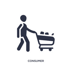 Consumer icon on white background simple element vector