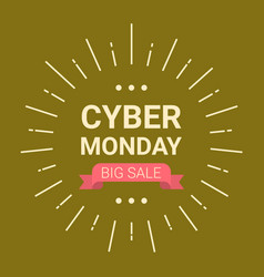 Cyber monday logo design big sale event flyer vector