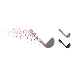 damaged pixel halftone scoop icon vector image