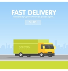 delivery car and set cardboard boxes vector image