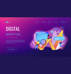 digital marketing concept landing page vector image