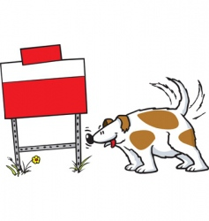 dog and sign vector image